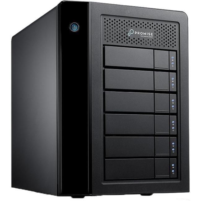 Pegasus3 Symply Edition R6 unidad de disco multiple 24 TB Torre Negro, Unidad de disco duro