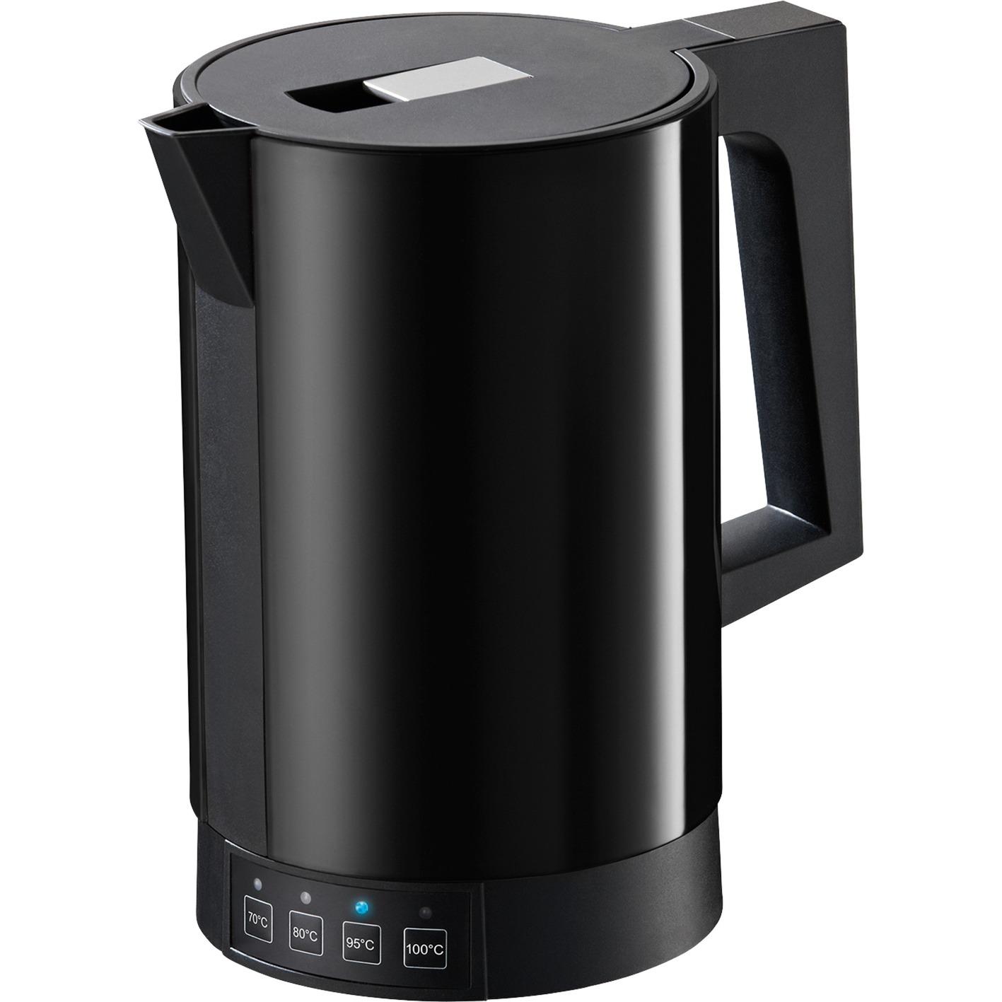 fontana5 tetera eléctrica 1,1 L Negro 2800 W, Hervidor de agua