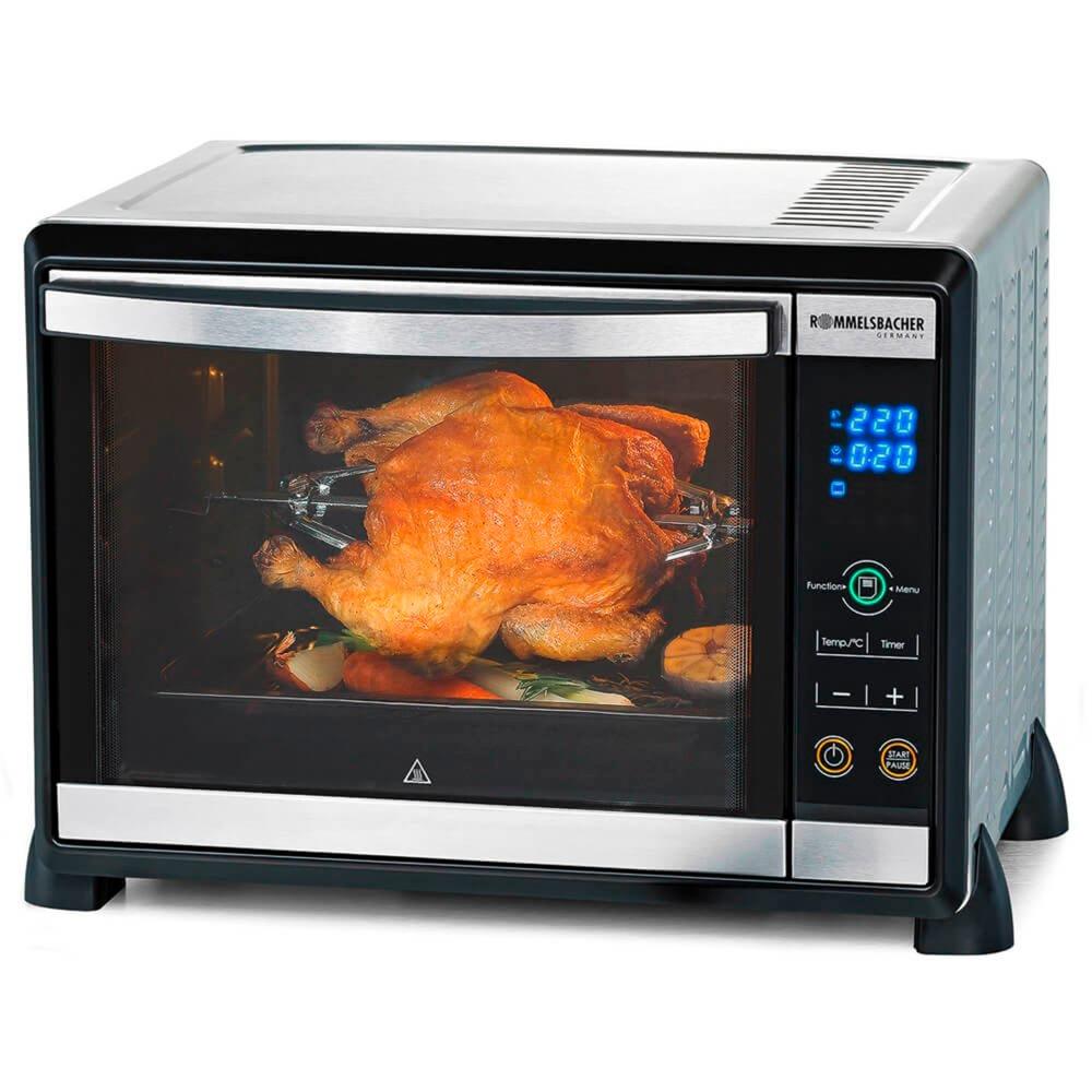 BGE 1580/E horno tostador Negro, Acero inoxidable Parrilla, Mini horno