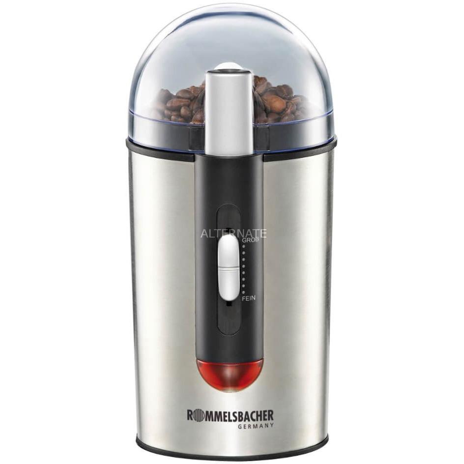 EKM 150 150W Negro, Acero inoxidable molinillo de café