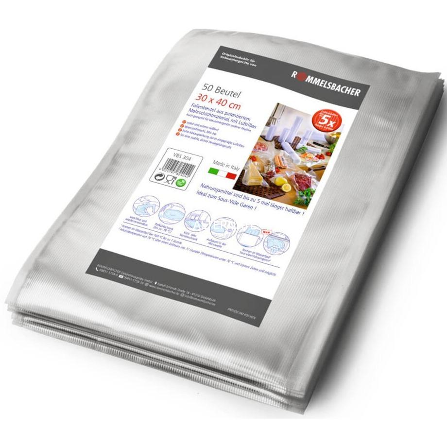 VBS 304 bolsa para cocinar, Láminas para envasado al vacío