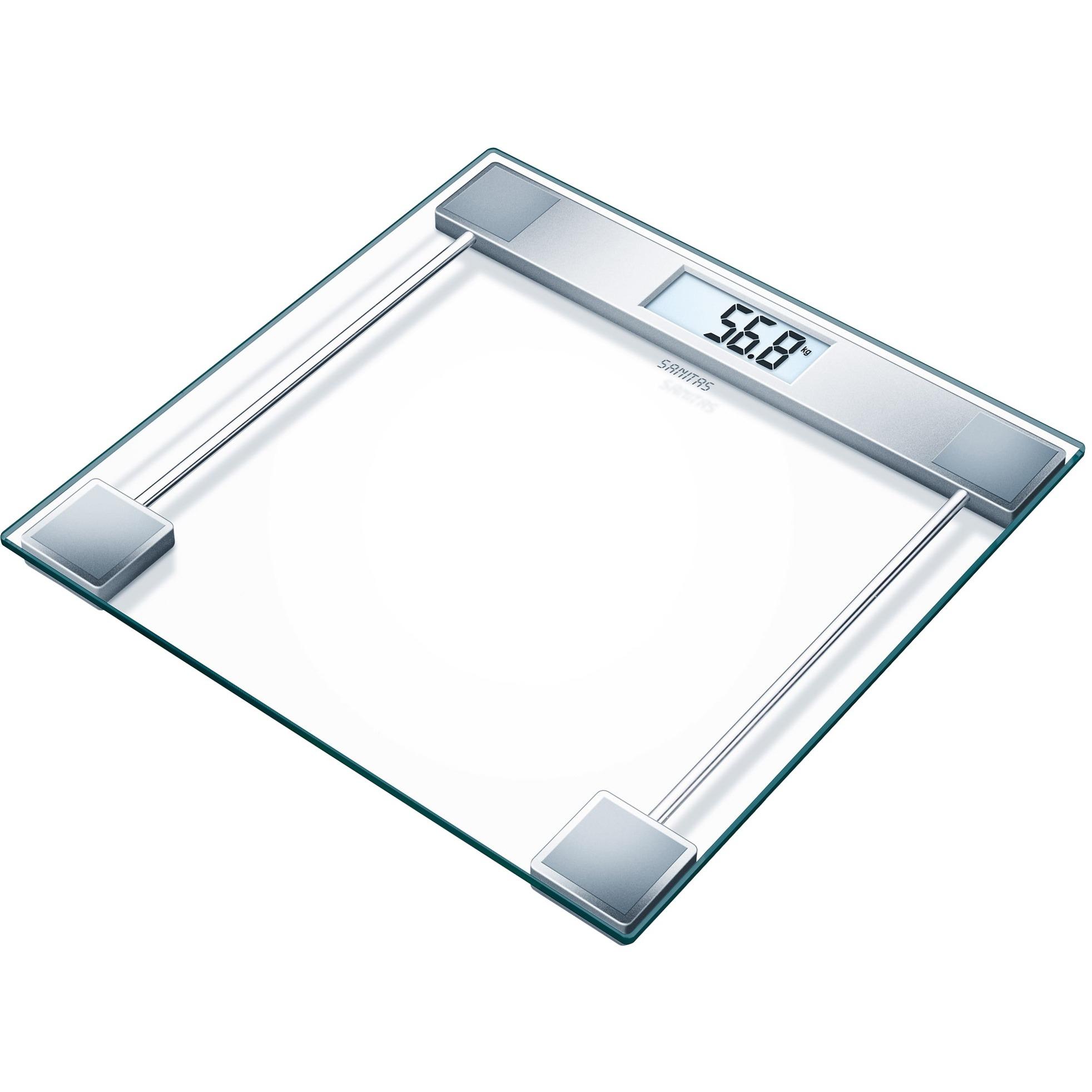 SGS 06 Báscula personal electrónica Plata, Transparente, Balanza