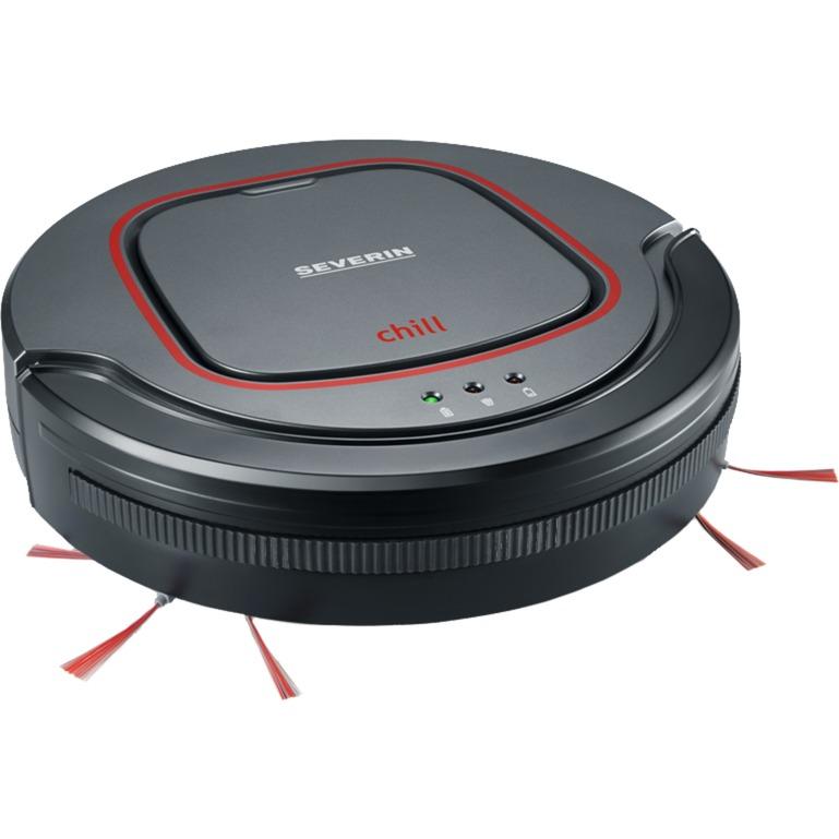 Chill Sin bolsa 0.35L Negro, Gris, Rojo aspiradora robotizada, Robot aspirador
