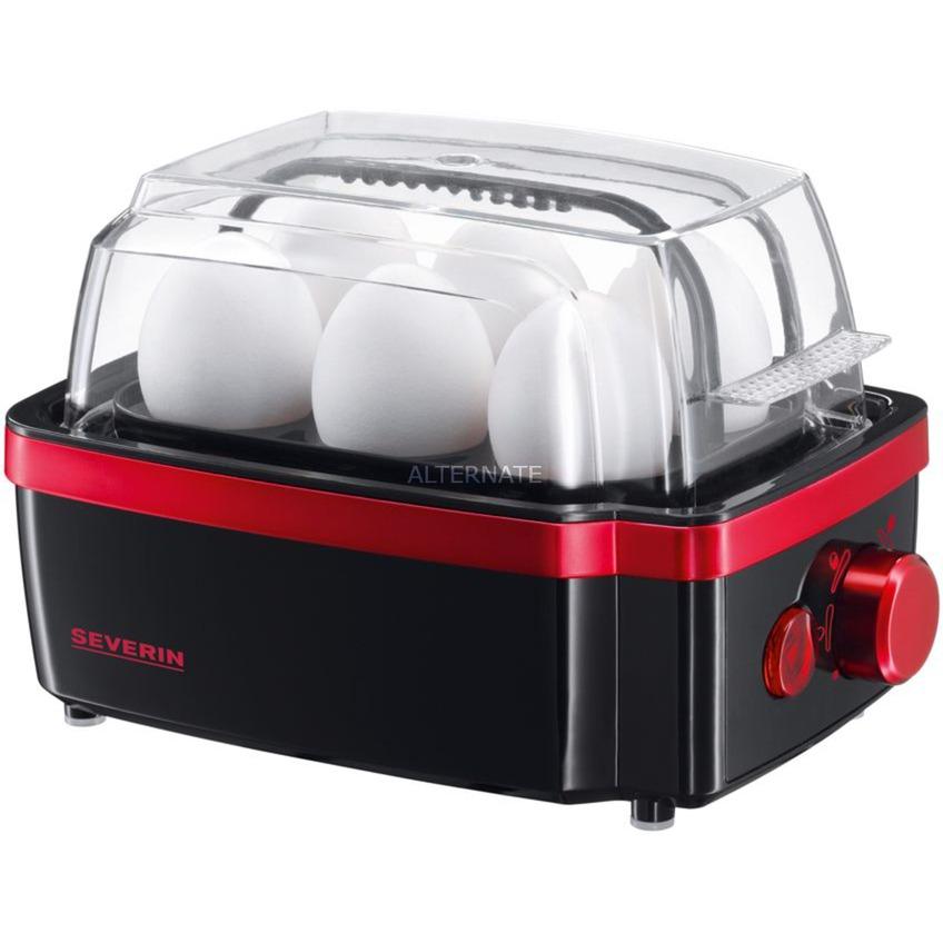 EK 3156 6eggs 400W Negro, Metálico, Rojo cuecehuevos, Hervidor de huevos