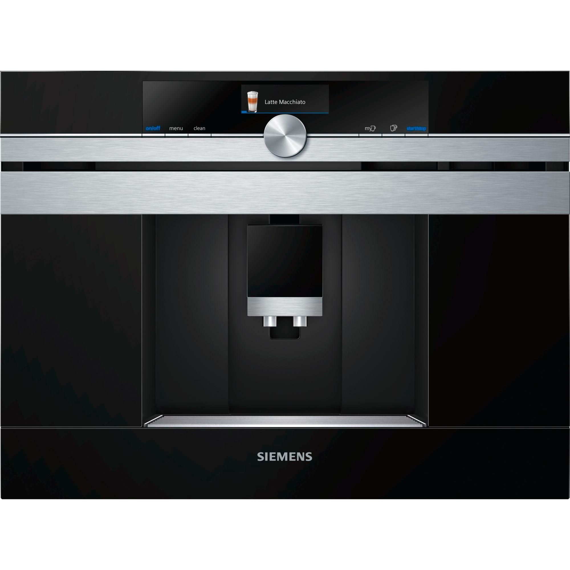 CT636LES1 cafetera eléctrica Integrado Máquina espresso Negro, Acero inoxidable 2,4 L 1 tazas Totalmente automática, Superautomática