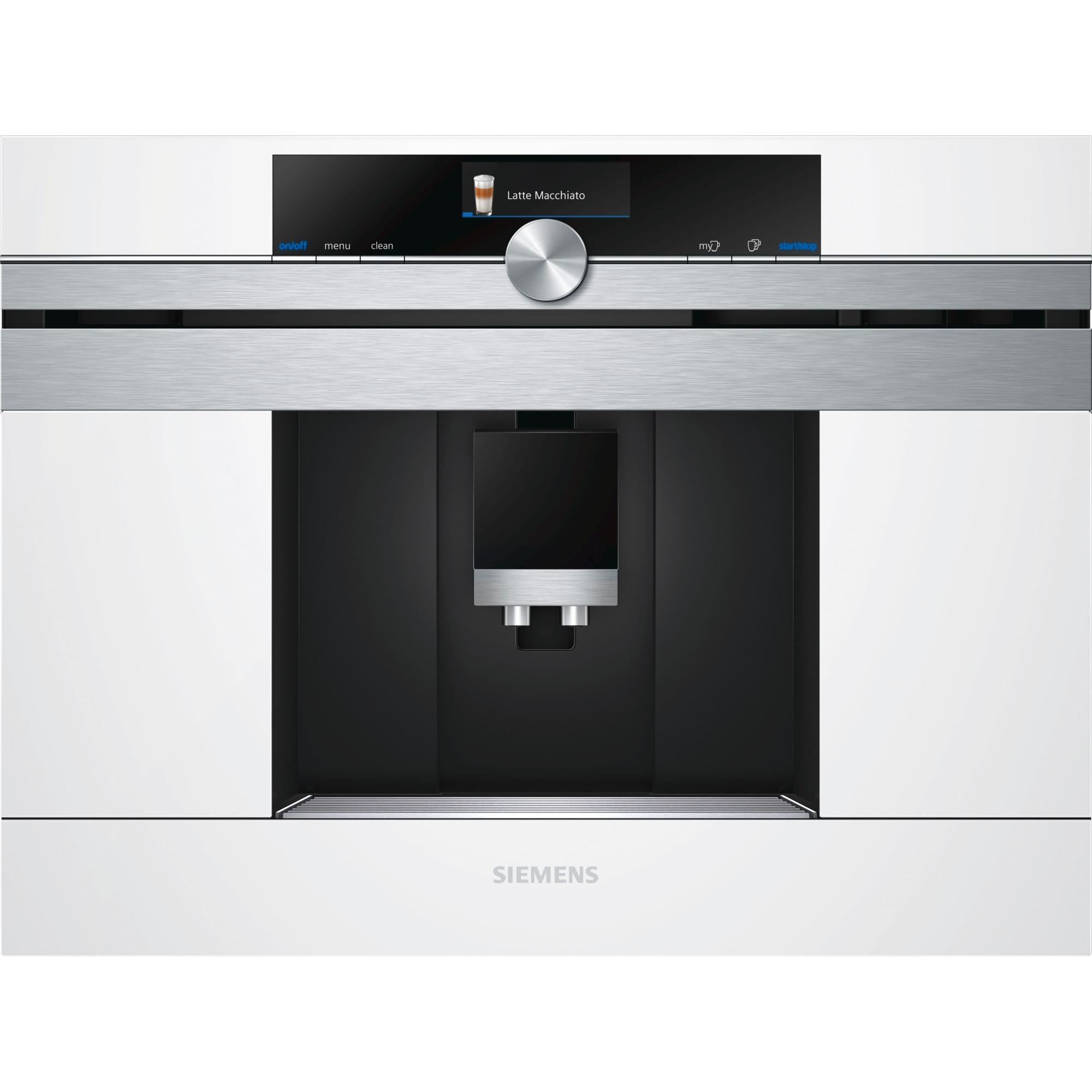 CT636LEW1 cafetera eléctrica Integrado Máquina espresso Acero inoxidable, Blanco 2,4 L 1 tazas Totalmente automática, Superautomática