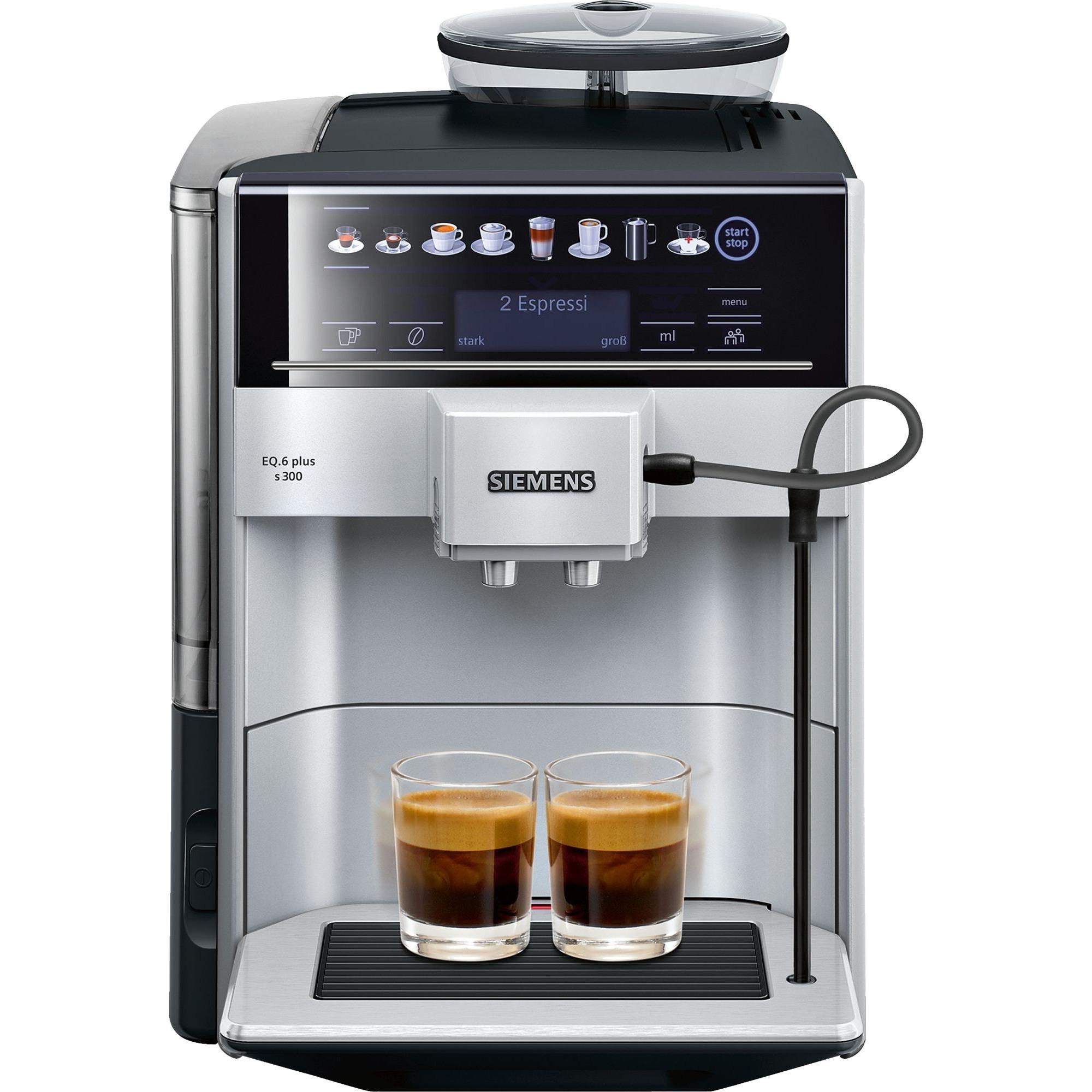 EQ.6 plus s300 Independiente Totalmente automática Máquina espresso 1.7L 2tazas Negro, Gris, Superautomática