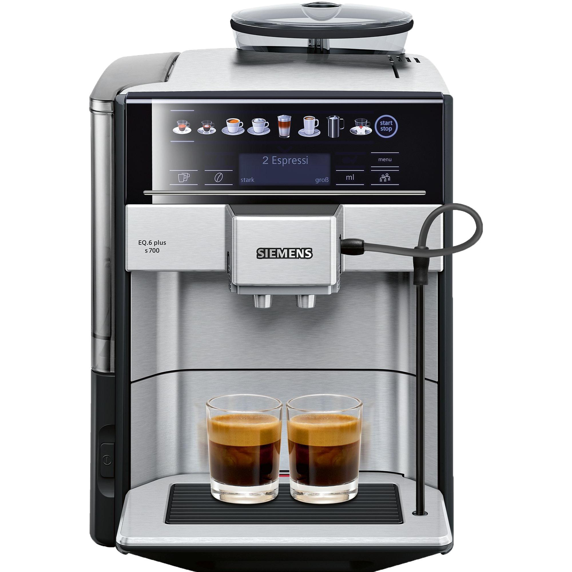 EQ.6 plus s700 Independiente Máquina espresso Negro, Gris 1,7 L 2 tazas Totalmente automática, Superautomática