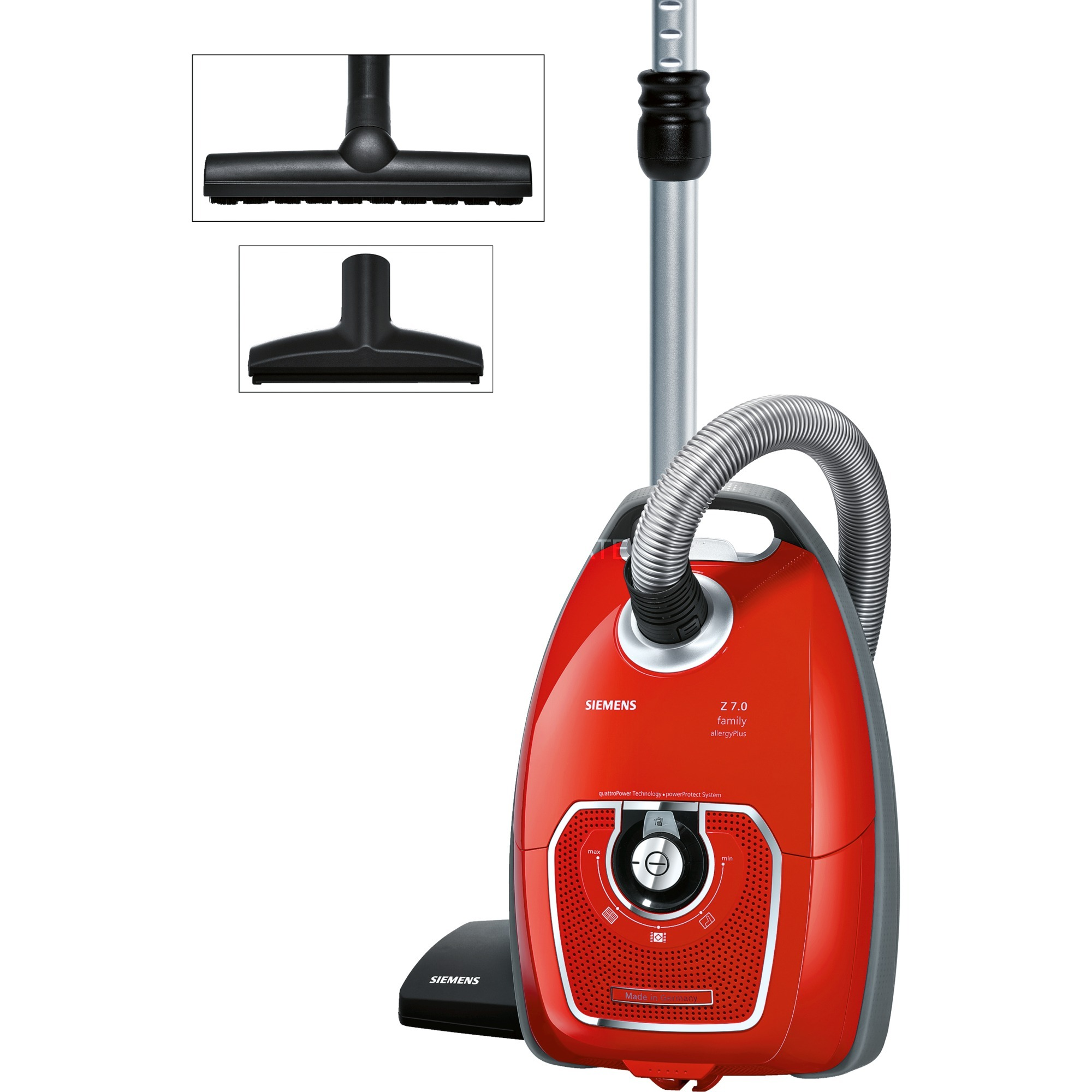 VSZ7330 Aspiradora cilíndrica 5L 650W A Negro, Rojo aspiradora, Aspiradora de suelo