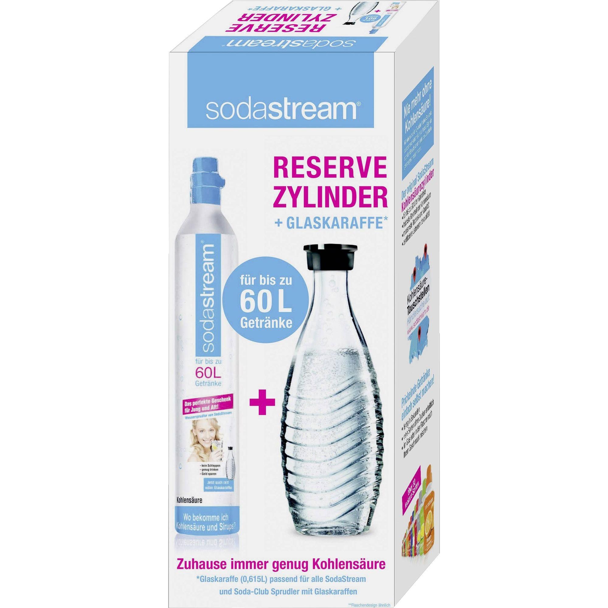 1100065490 consumible y accesorio para carbonatador Botella para bebida carbonatada + Cargador carbonatador, Gasificador de agua