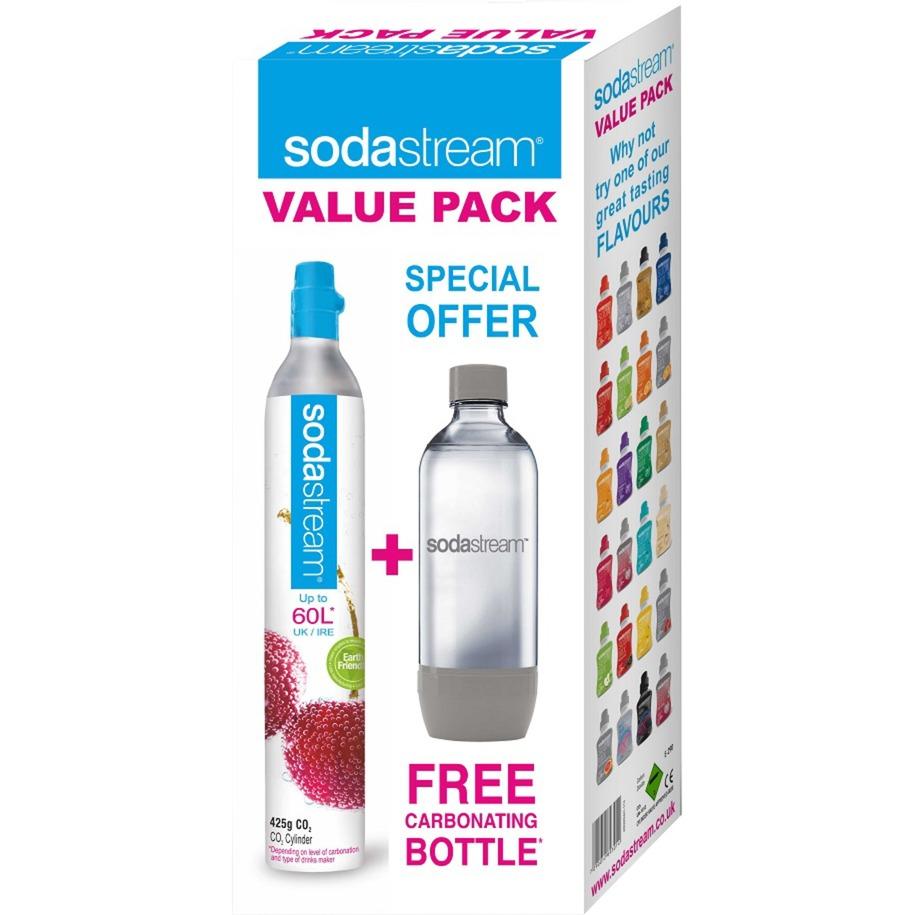 2260513 consumible y accesorio para carbonatador Botella para bebida carbonatada + Cargador carbonatador, Gasificador de agua