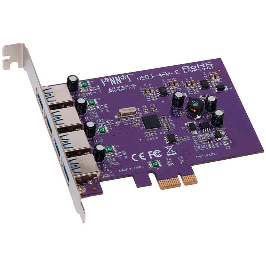 USB3-4PM-E tarjeta y adaptador de interfaz USB 3.0 Interno, Controlador USB