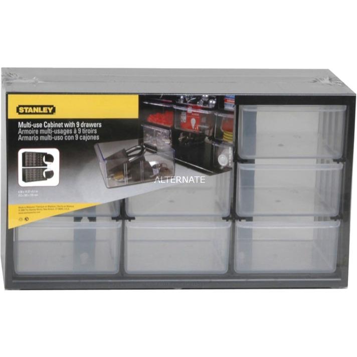 1-93-978 Caja de herramientas Polipropileno (PP), De plástico Negro caja de herramientas
