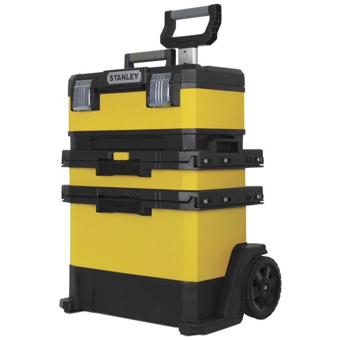 1-95-621 pieza pequeña y caja de herramientas Negro, Amarillo, Carros de herramienta