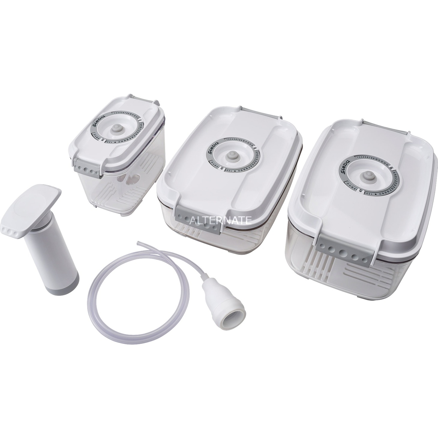93 17 00 Rectangular Caja 2L Blanco 3pieza(s) recipiente de almacenar comida, Láminas para envasado al vacío