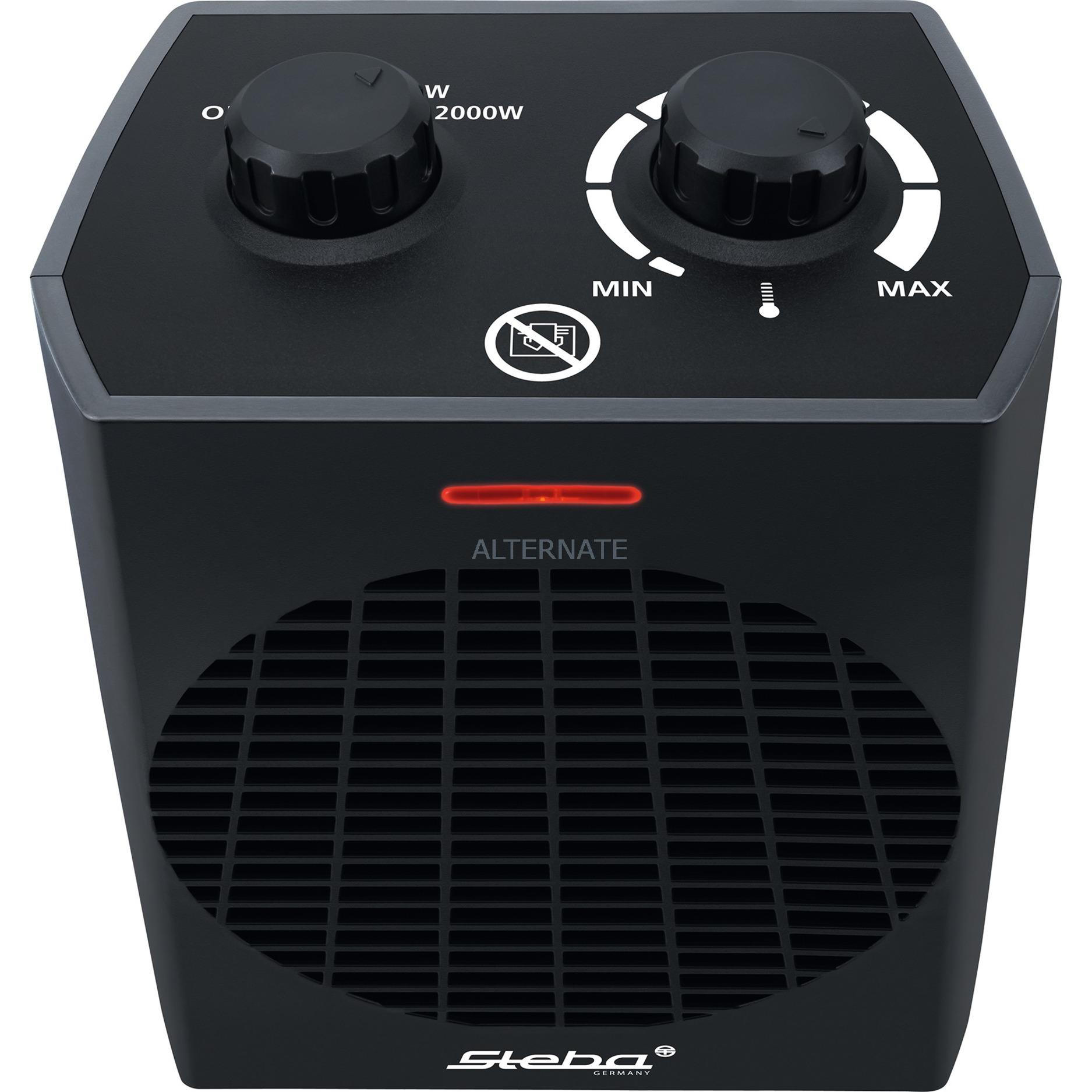 FH 504 Calentador de ventilador Interior Negro 2000 W, Termoventiladores