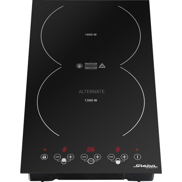 IK 200 Negro Integrado Con placa de inducción, Calentador autárquico