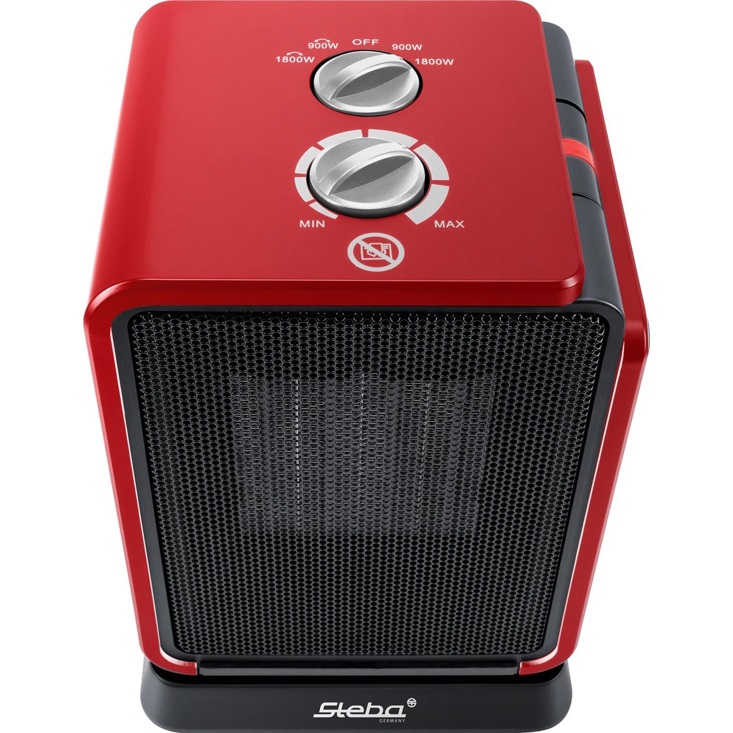 KH 2 Calentador de ventilador Negro, Rojo 1800 W, Termoventiladores