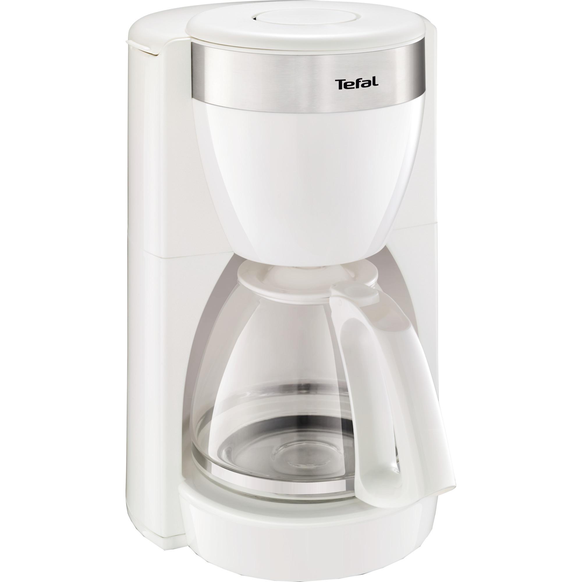 CM 1801 Independiente Cafetera de filtro 1.25L 15tazas Acero inoxidable, Color blanco cafetera eléctrica
