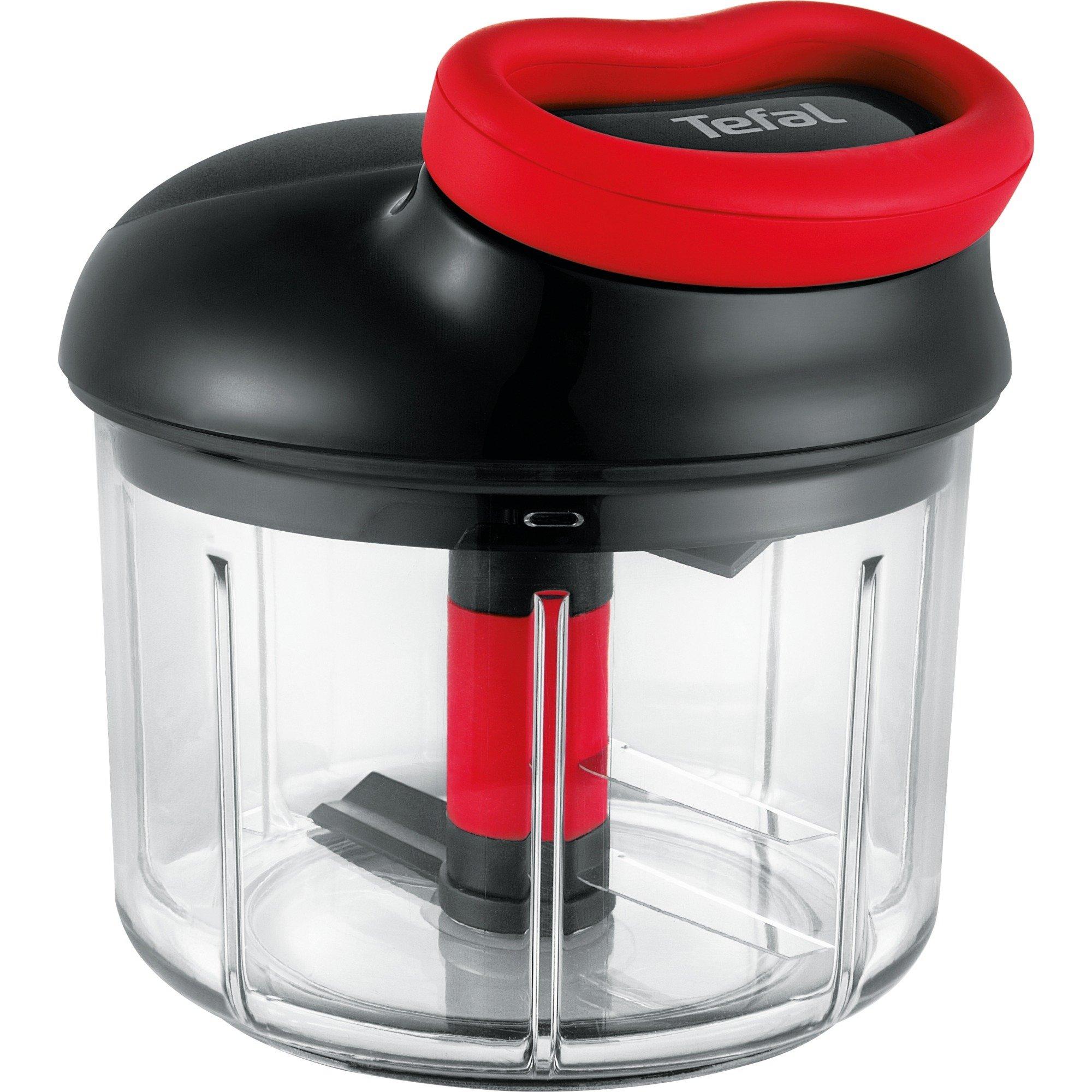K09811 Negro, Transparente picadora manual de alimentos, Trituradora