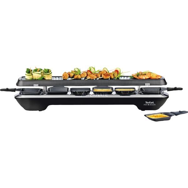 Simply Line Inox&Design 1050W Negro, Acero inoxidable raclett eléctrico, Raclette