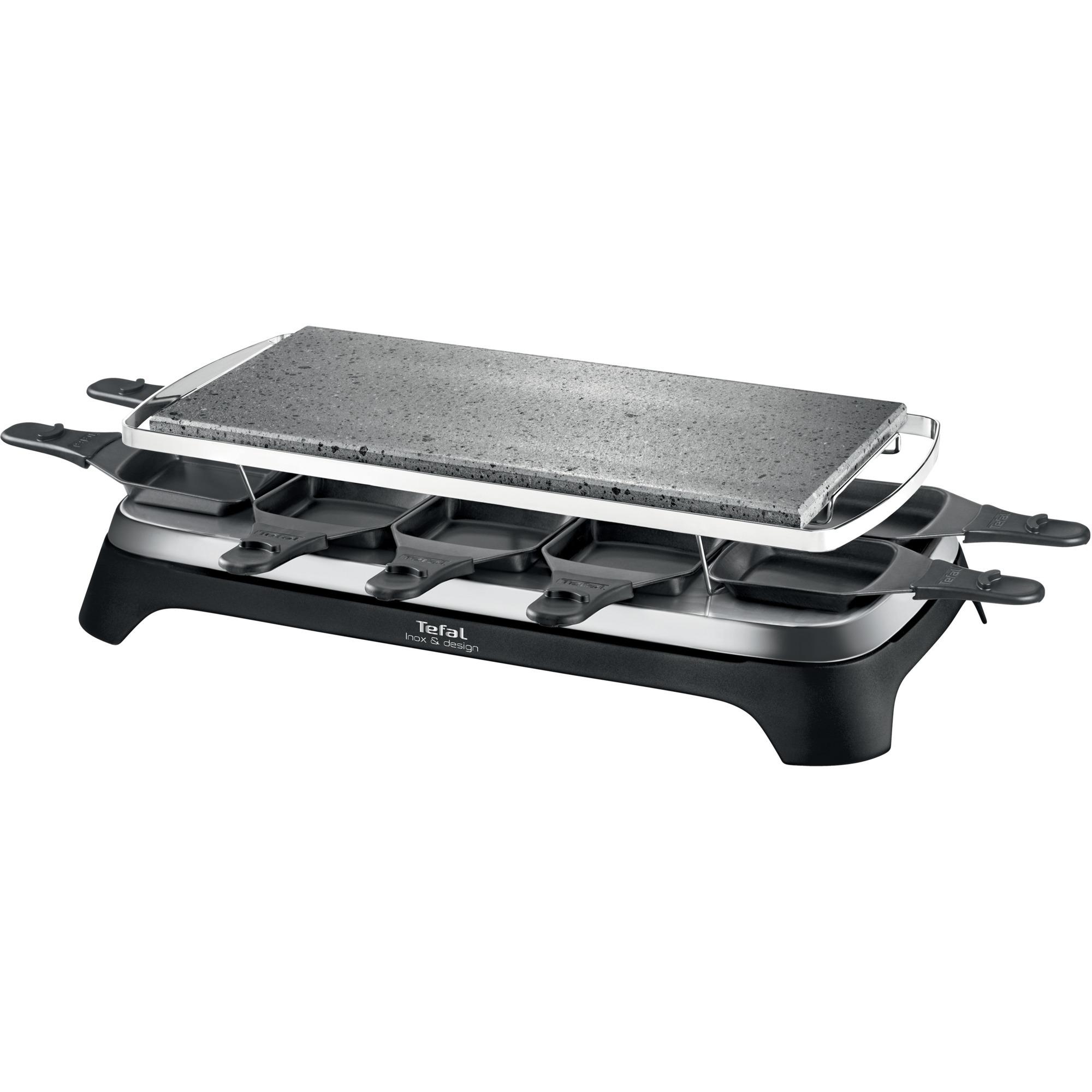 Steengrill 10 Inox&Design 10personas(s) 1350W Negro, Acero inoxidable raclett eléctrico, Raclette