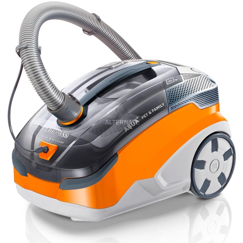Pet & Family Aqua+ 1700 W Aspiradora cilíndrica 1,8 L Gris, Naranja, Blanco