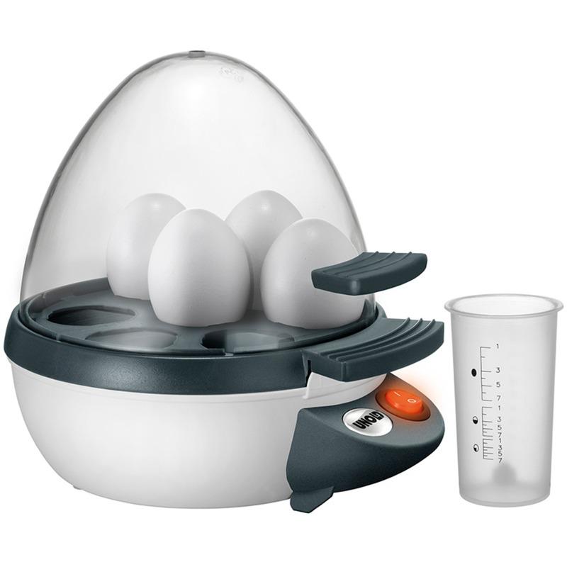 38641 7eggs 350W Antracita, Transparente, Color blanco cuecehuevos, Hervidor de huevos