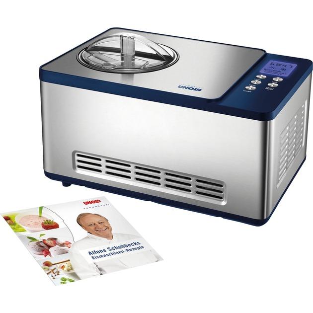 48818 Compresor de helados 1.5L 150W Azul, Acero inoxidable máquina para helados, Heladera