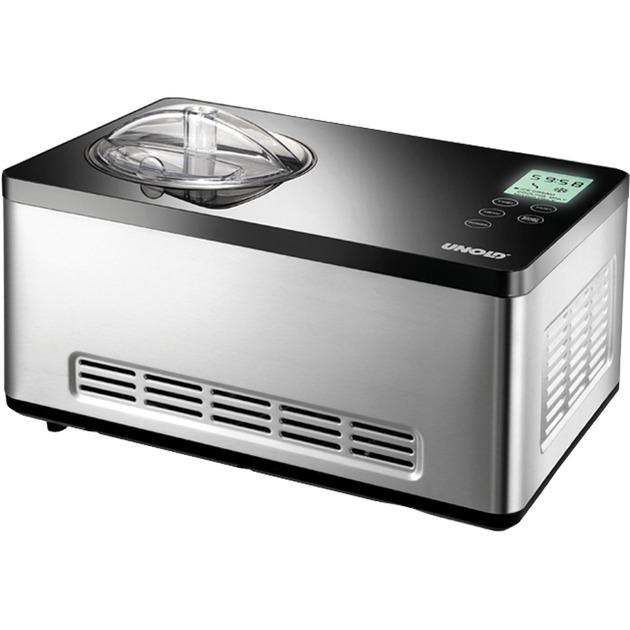48845 máquina para helados Compresor de helados 2 L Negro, Acero inoxidable 180 W, Heladera
