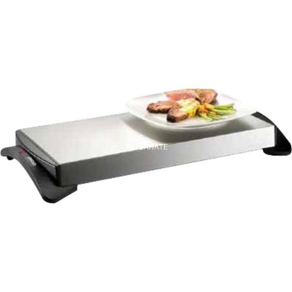 58815 1100W Negro, Acero inoxidable calentador de alimentos, Calientaplatos