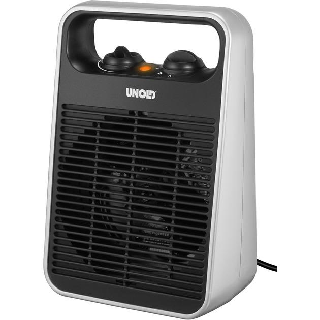 86106 Negro, Plata 2000W Ventilador calefactor eléctrico, Termoventiladores