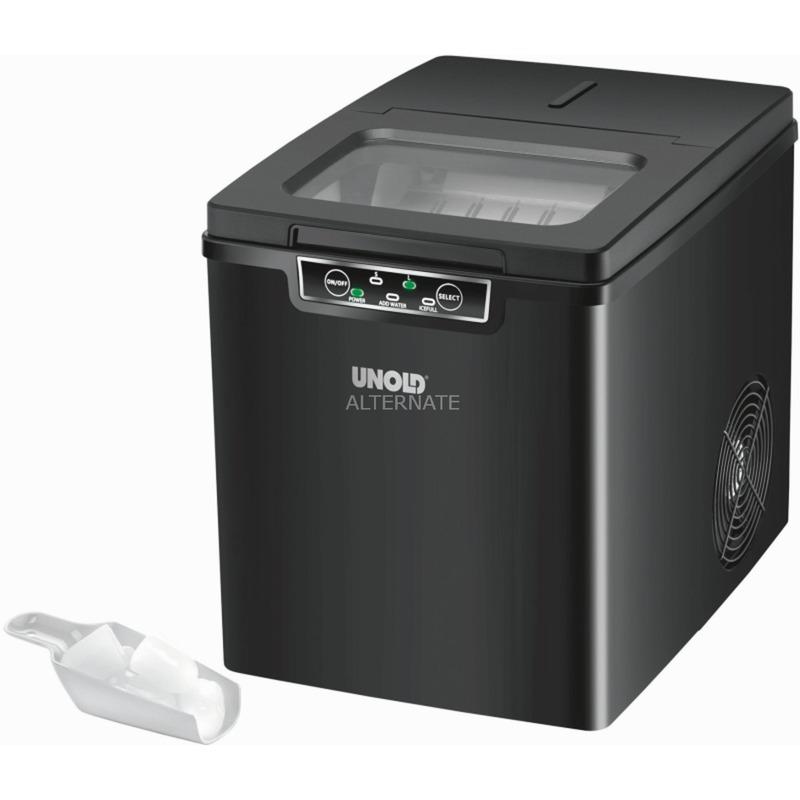 Cube 105 W Máquina para hacer cubitos de hielo integrada/independiente 12 kg/24h Negro, Preparador de cubitos de hielo