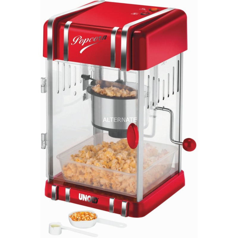 Retro palomitas de maiz poppers Rojo, Plata 300 W, Palomitero