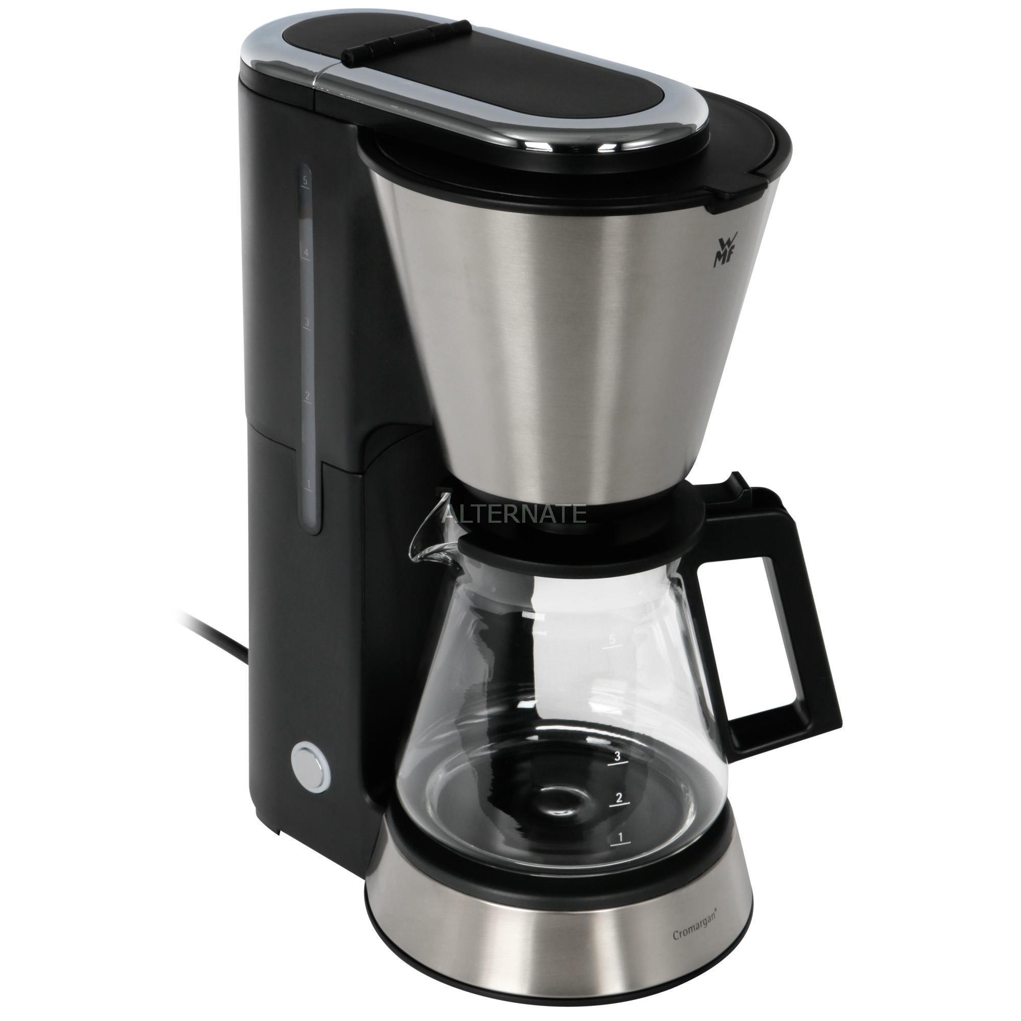 0412270011 Independiente Cafetera de filtro 0.6L 5tazas Negro, Acero inoxidable cafetera eléctrica