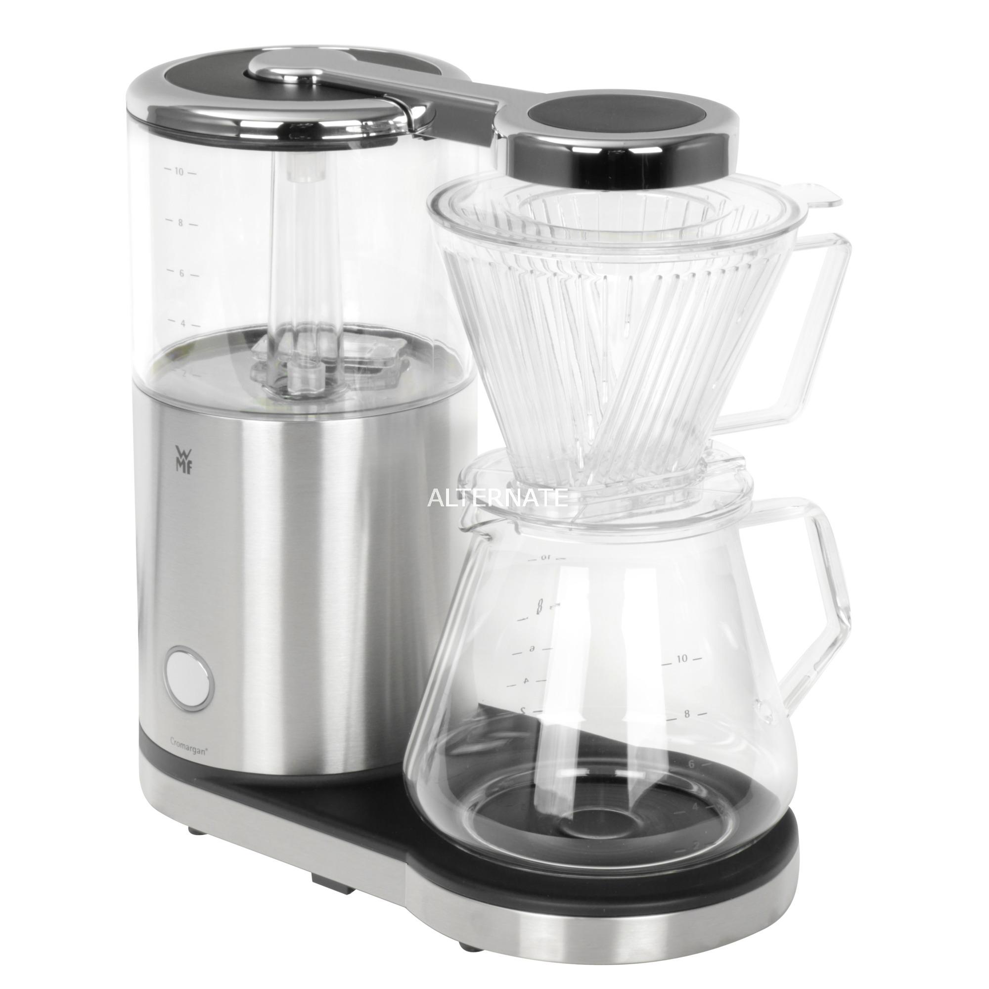 04 1219 0011 Independiente Cafetera de filtro Acero inoxidable, Transparente 10 tazas