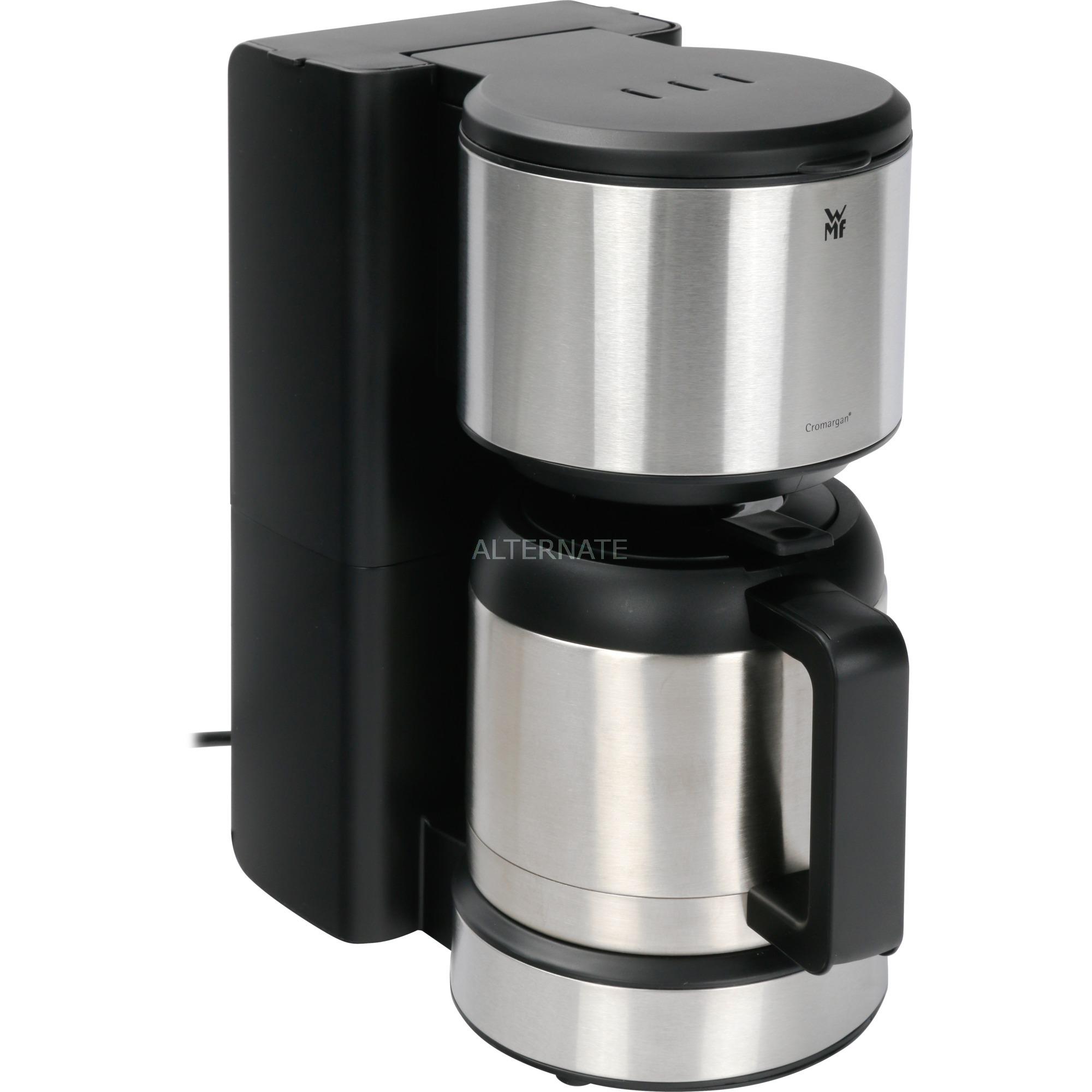 Aroma Thermo Stelio Independiente Cafetera de filtro 1L 8tazas Negro, Acero inoxidable