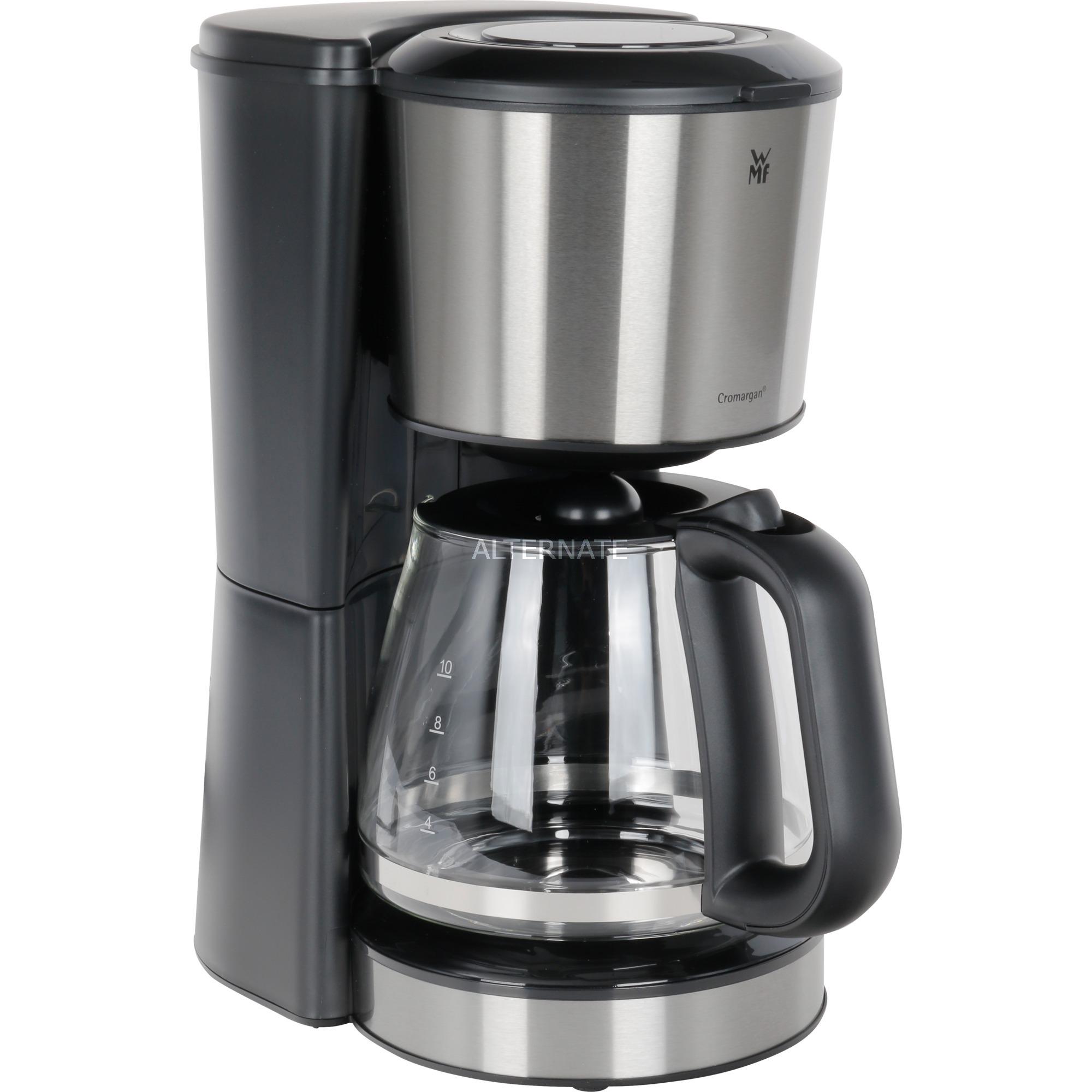 Bueno Independiente Cafetera de filtro Negro, Cromo 10 tazas Totalmente automática