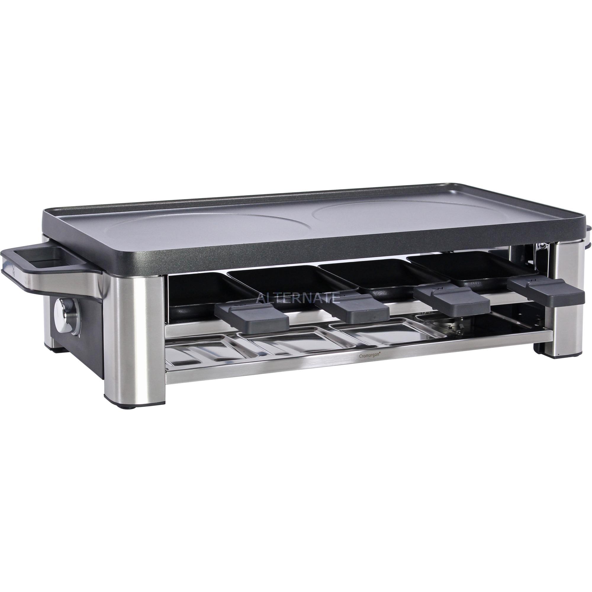 Lono 8personas(s) 1500W Negro, Cromo raclett eléctrico, Raclette