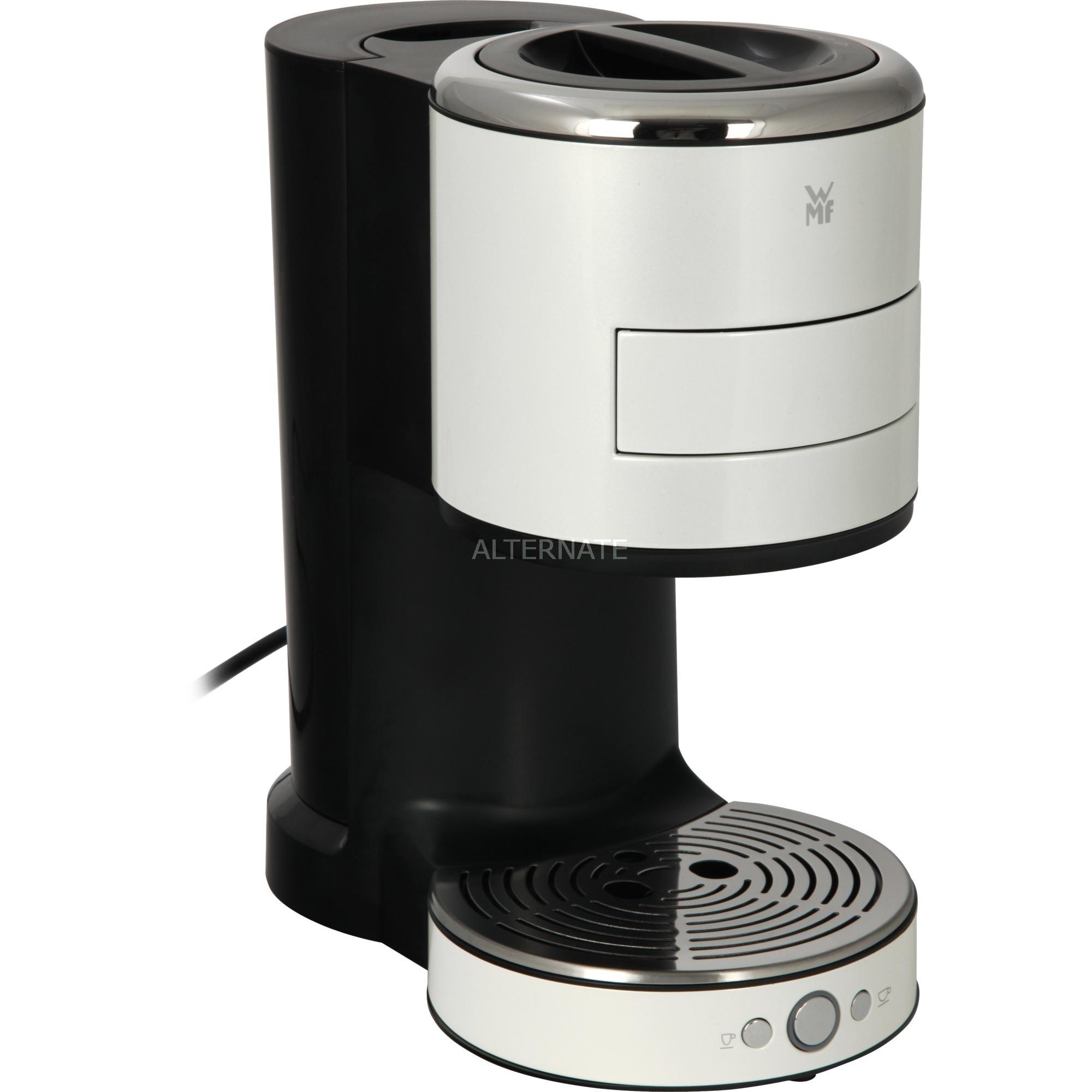 Lono Independiente Máquina espresso Blanco 0,8 L 2 tazas, Cafetera monodosis