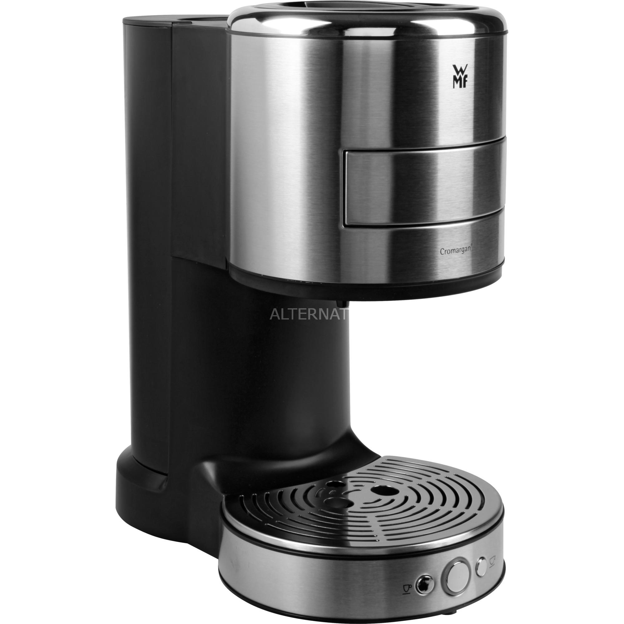 Lono Independiente Semi-automática Máquina espresso 0.8L 2tazas Negro, Acero inoxidable, Cafetera monodosis
