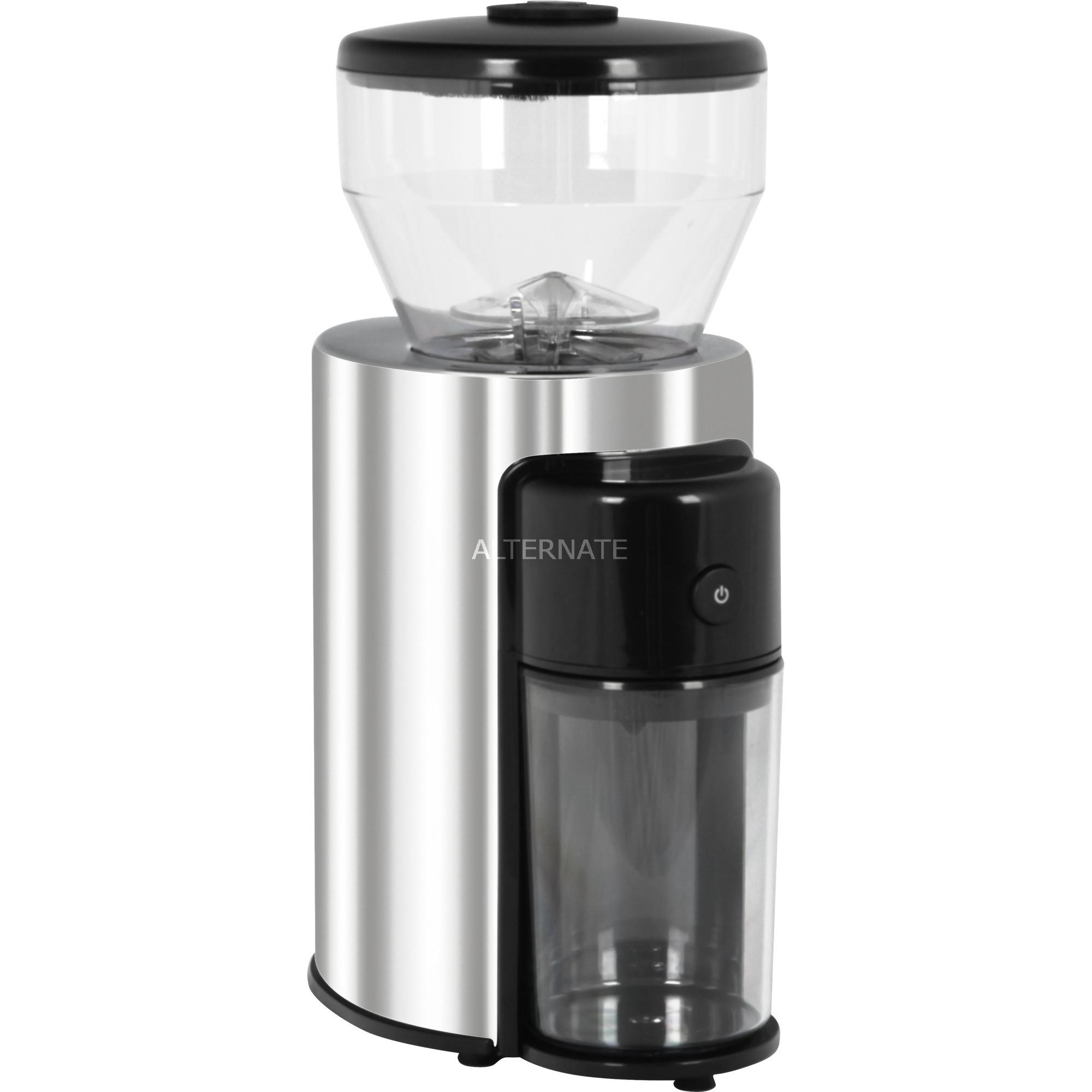Skyline 150W Negro, Acero inoxidable, Transparente, Molinillo de café