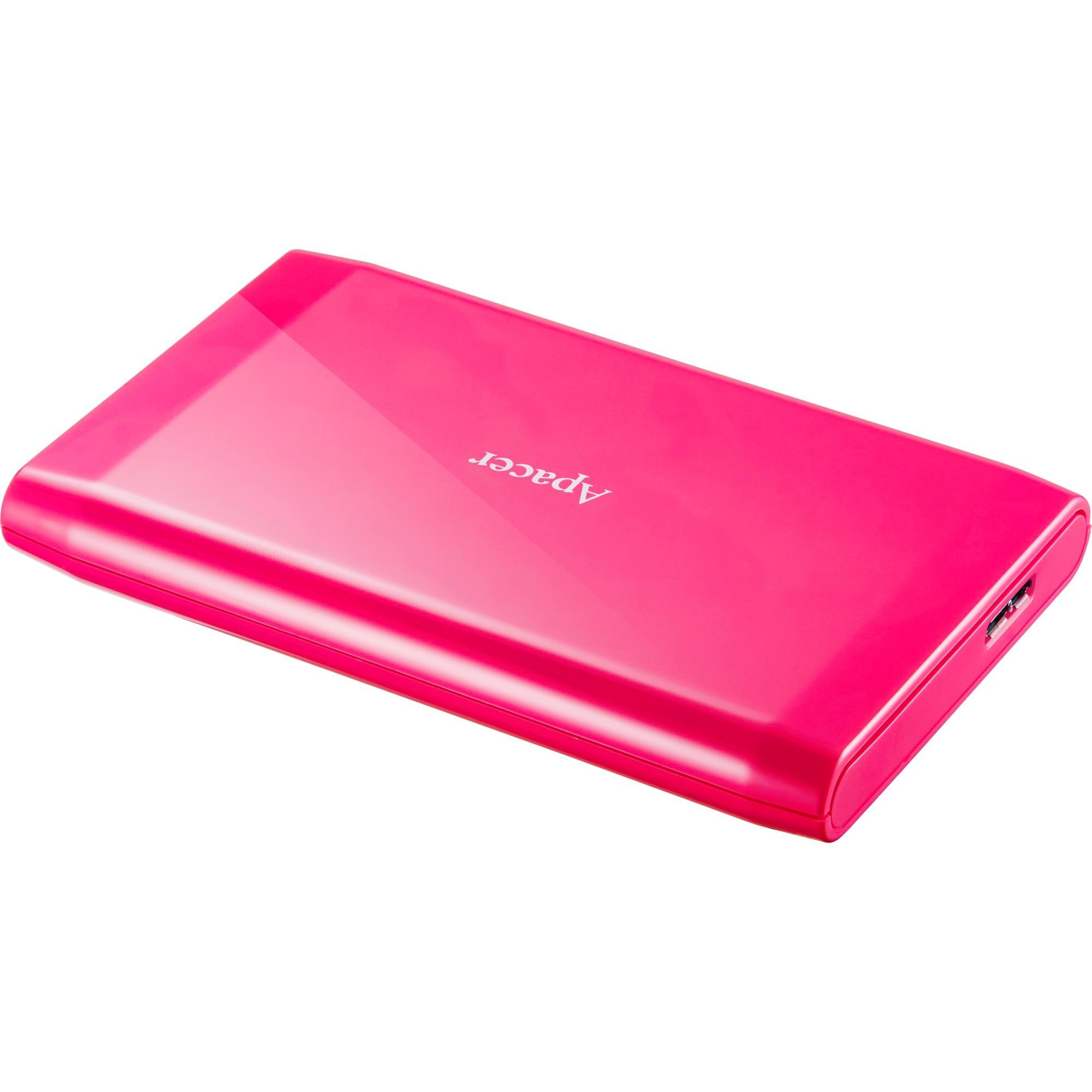 AC235 disco duro externo 500 GB Rosa, Unidad de disco duro