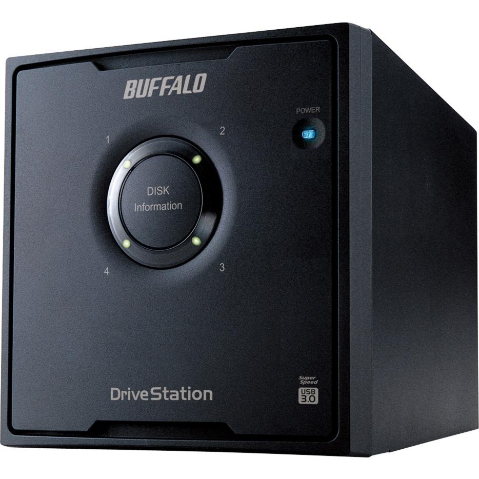 DriveStation HD-QHU3 unidad de disco multiple 24 TB Escritorio Negro, Unidad de disco duro