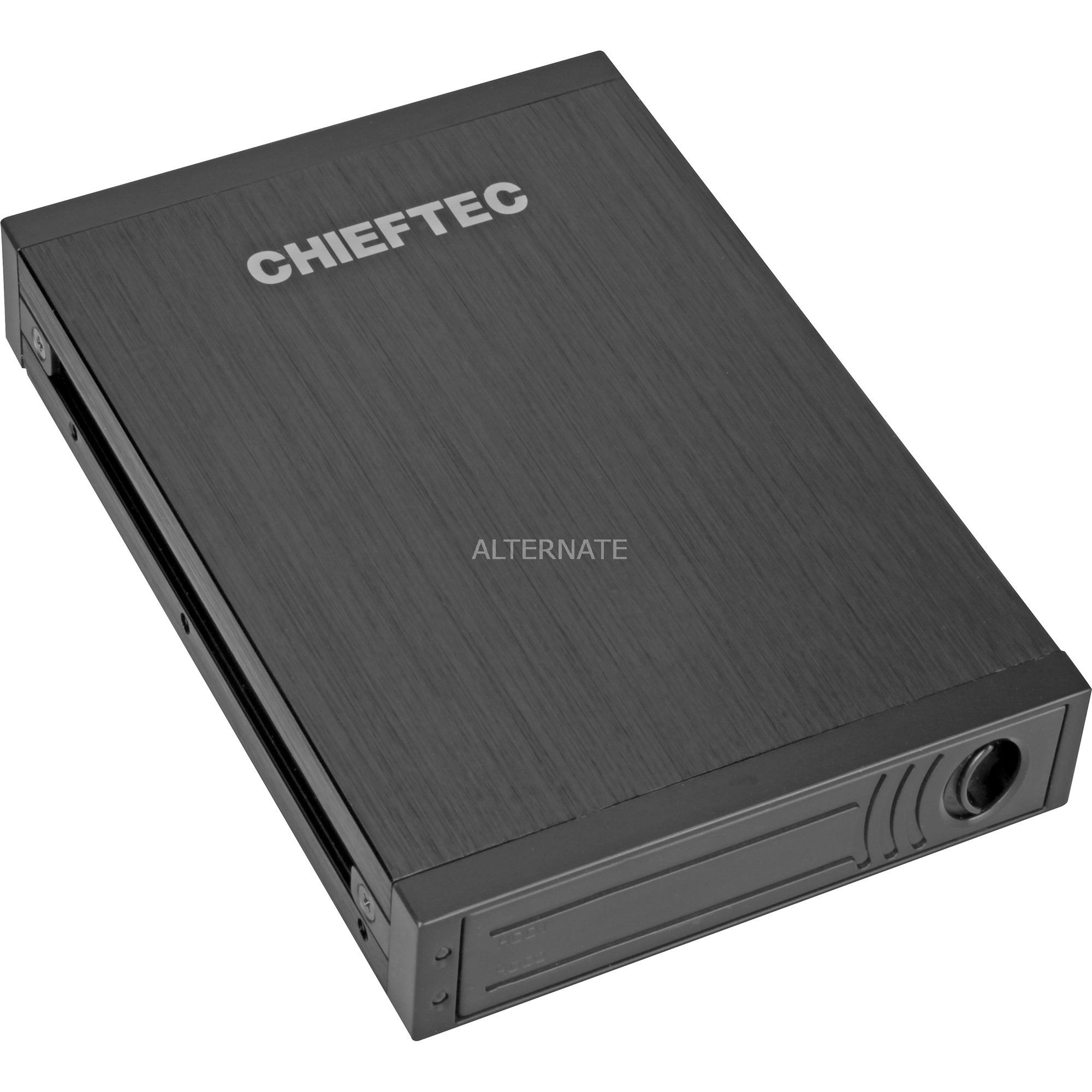 """ATM-1322S-RD Carcasa de disco duro/SSD 2.5"""" Negro caja para disco duro externo, Chasis intercambiable"""
