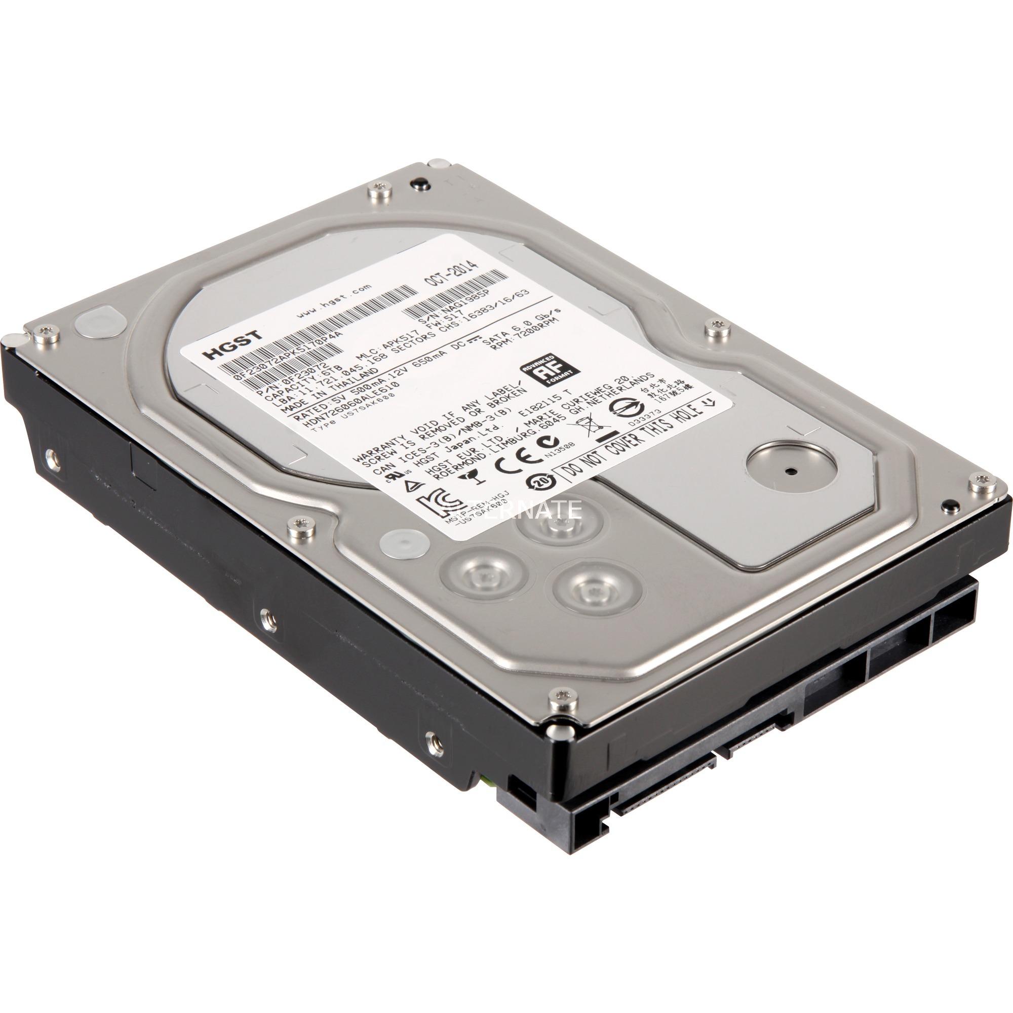 Deskstar 0S04007 6000GB Serial ATA III disco duro interno, Unidad de disco duro