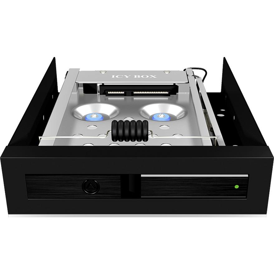 "Gehäuse 2.5"" Carcasa de disco duro/SSD Negro, Chasis intercambiable"