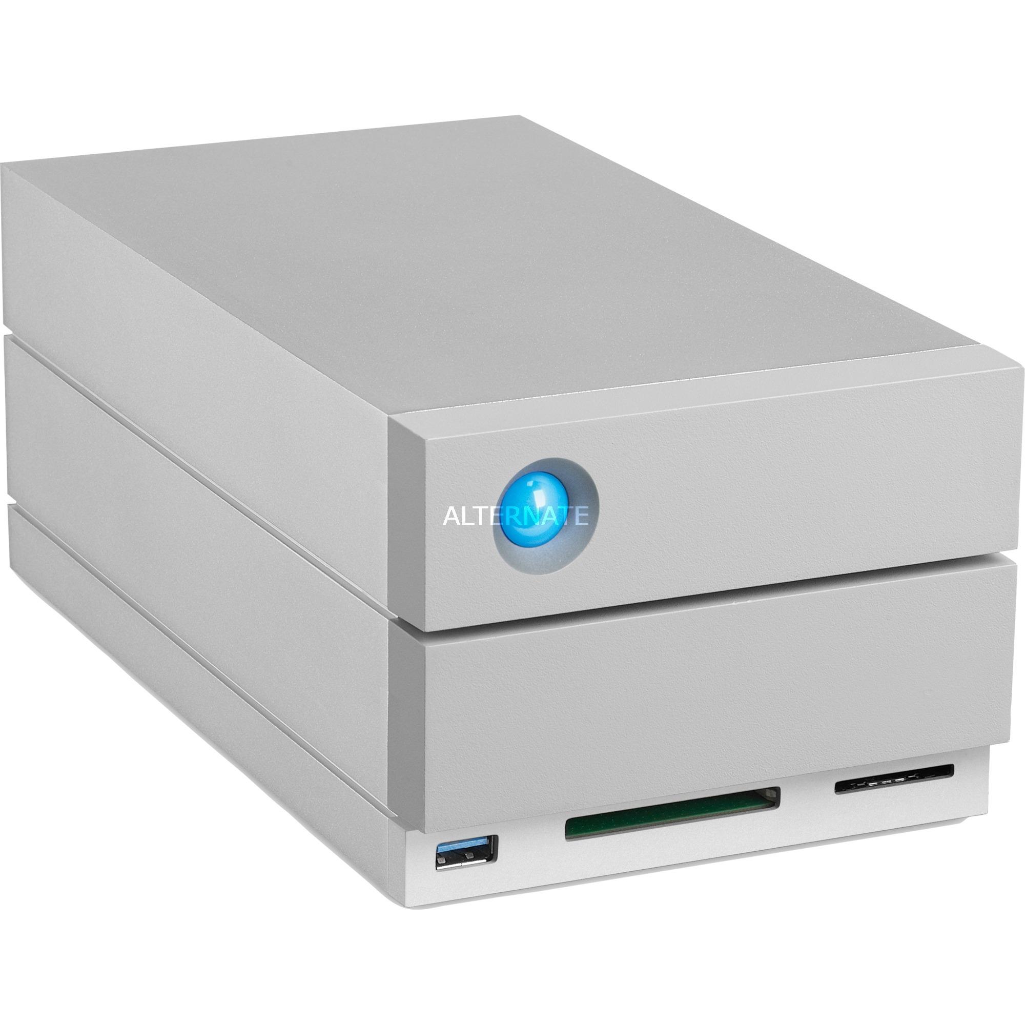 2big Dock Thunderbolt 3 12TB unidad de disco multiple Escritorio Gris, Unidad de disco duro