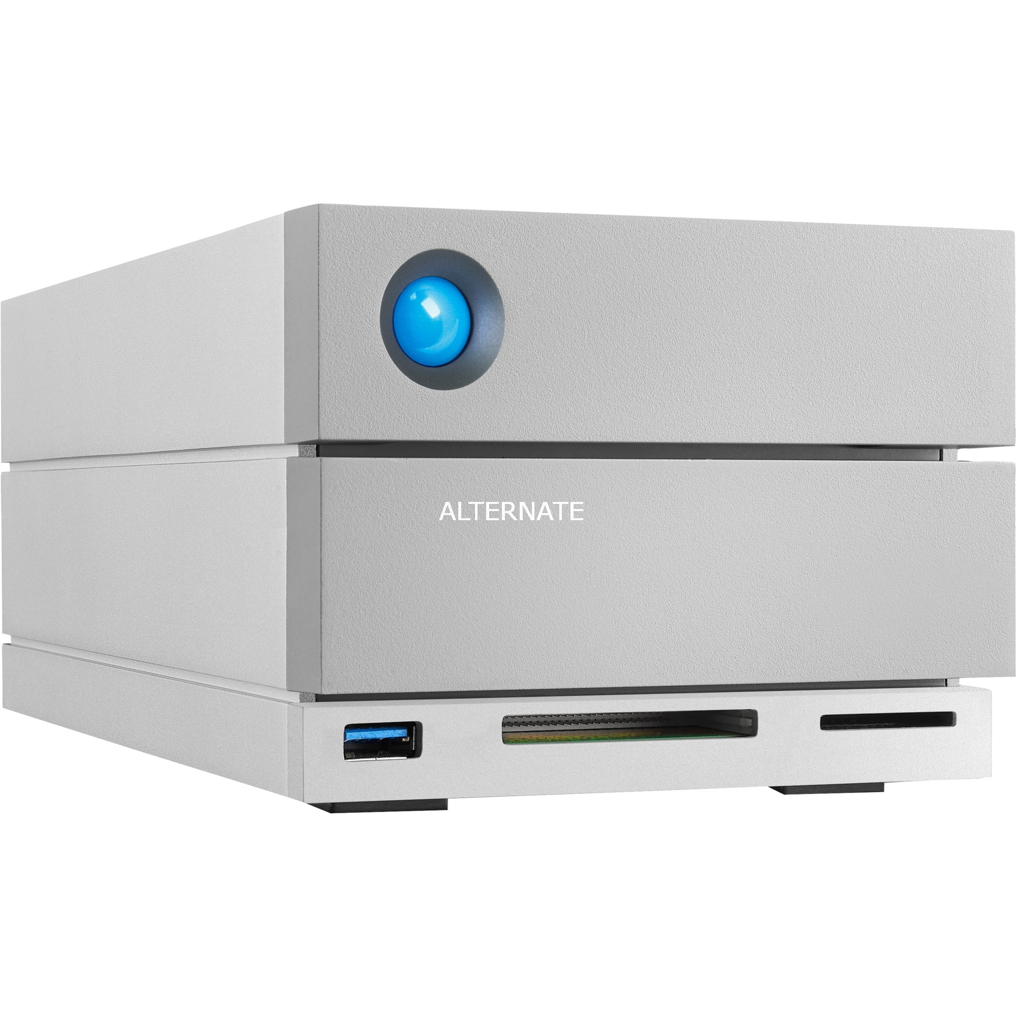 2big Dock Thunderbolt 3 16TB unidad de disco multiple Escritorio Plata, Unidad de disco duro