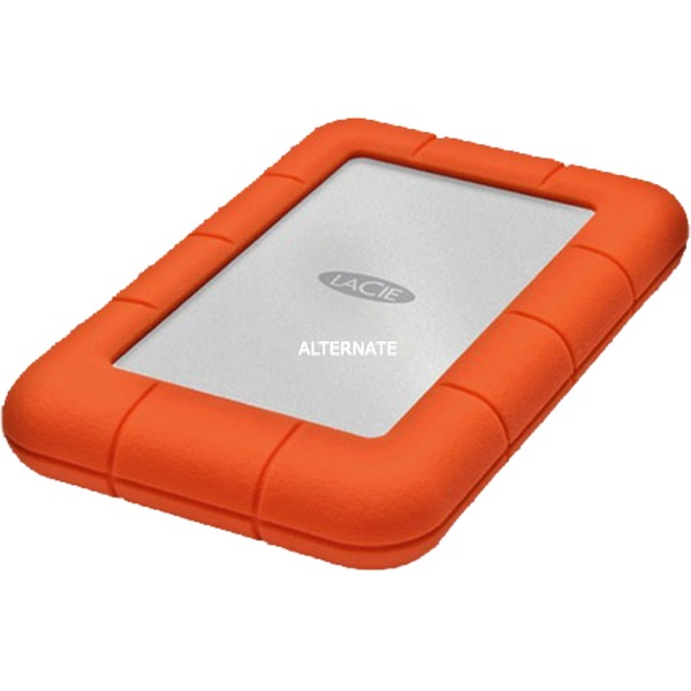 Rugged Mini, 2TB disco duro externo 2000 GB Aluminio, Naranja, Unidad de disco duro